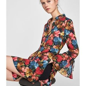 Zara FLORAL PRINT JUMPSUIT DRESS-8682/238-w/ short